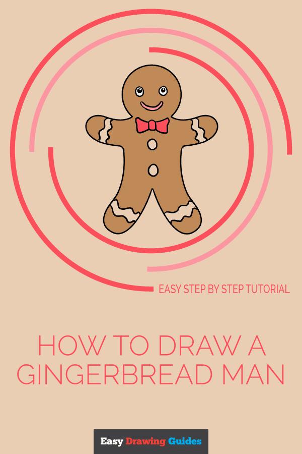 How to Draw Gingerbread Man | Share to Pinterest
