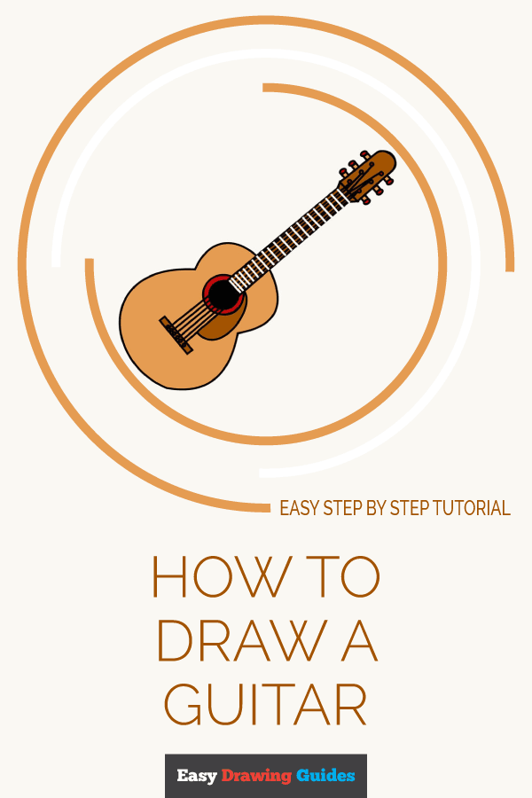How to Draw a Guitar | Share to Pinterest