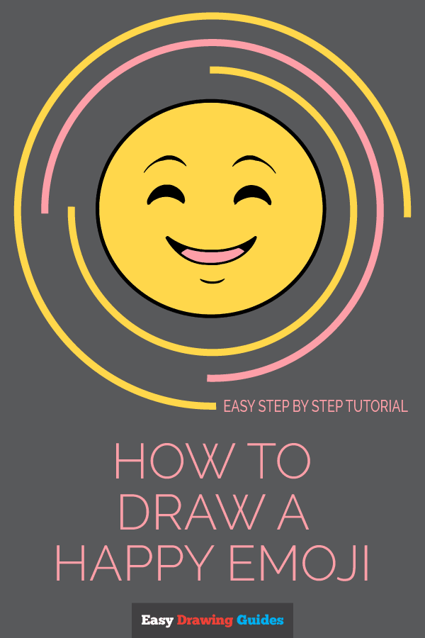 How to Draw Happy Face Emoji | Share to Pinterest