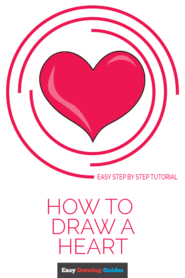 How to Draw Heart | Share to Pinterest