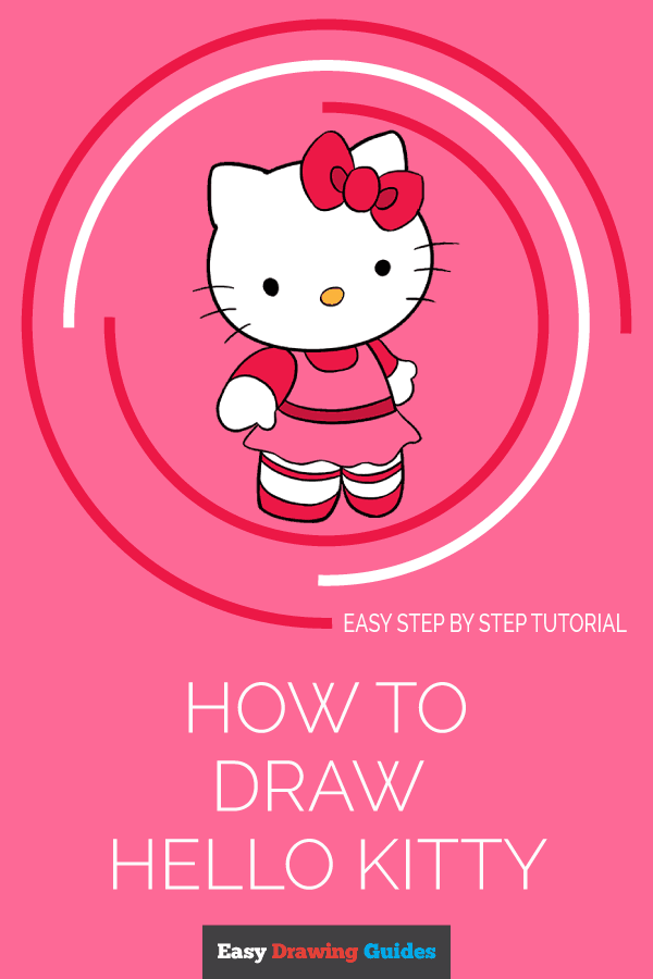 How to Draw Hello Kitty | Share to Pinterest