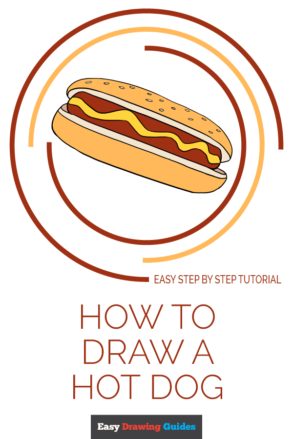 How to Draw Hot Dog | Share to Pinterest
