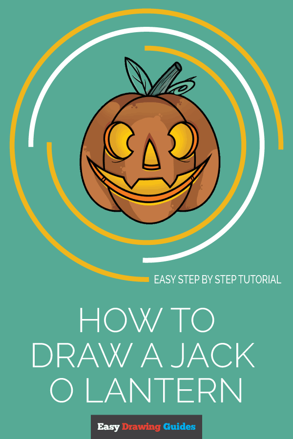 How to Draw Jack O Lantern | Share to Pinterest