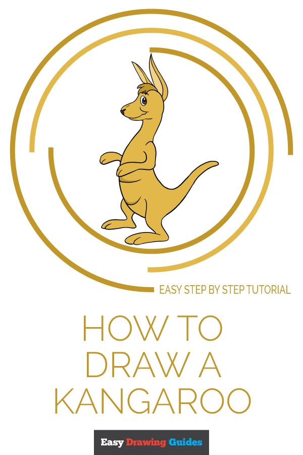 How to Draw a Kangaroo | Share to Pinterest