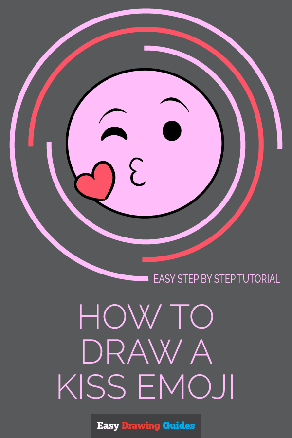 How to Draw Kiss Emoji | Share to Pinterest