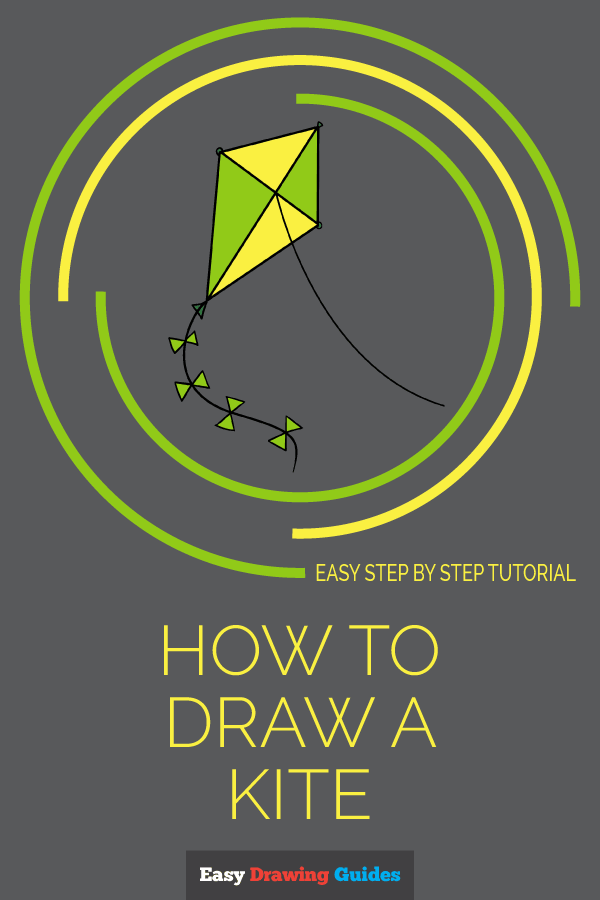 How to Draw Kite | Share to Pinterest