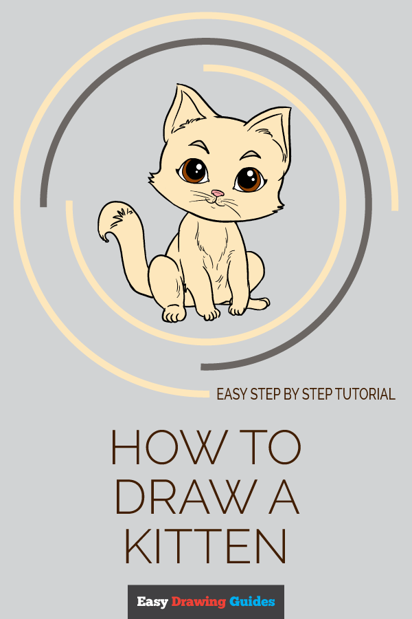 How to Draw Kitten | Share to Pinterest