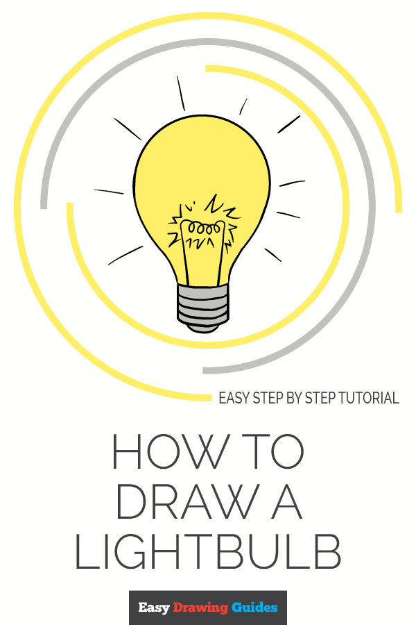 How to Draw Light Bulb | Share to Pinterest