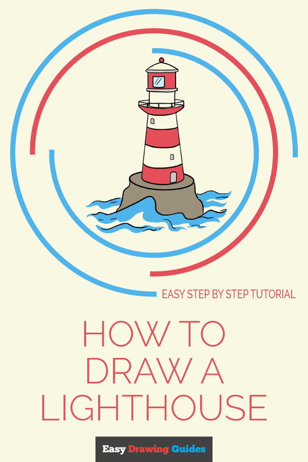 How to Draw Light House | Share to Pinterest