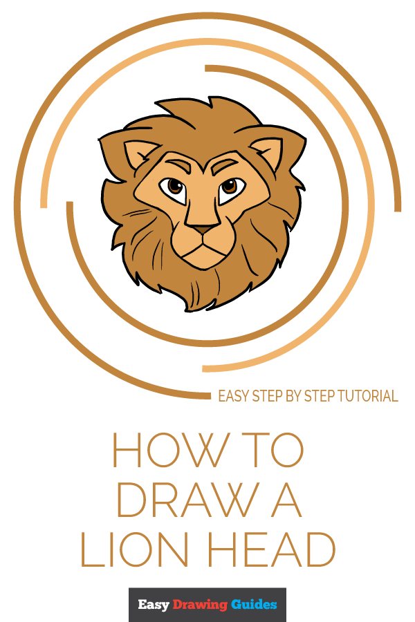 How to Draw a Lion Head | Share to Pinterest
