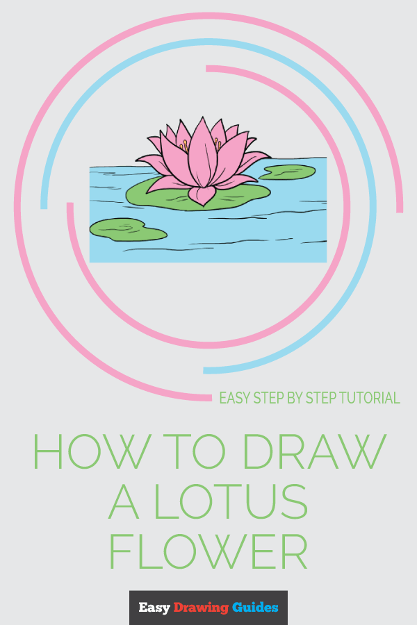 How to Draw Lotus Flower | Share to Pinterest