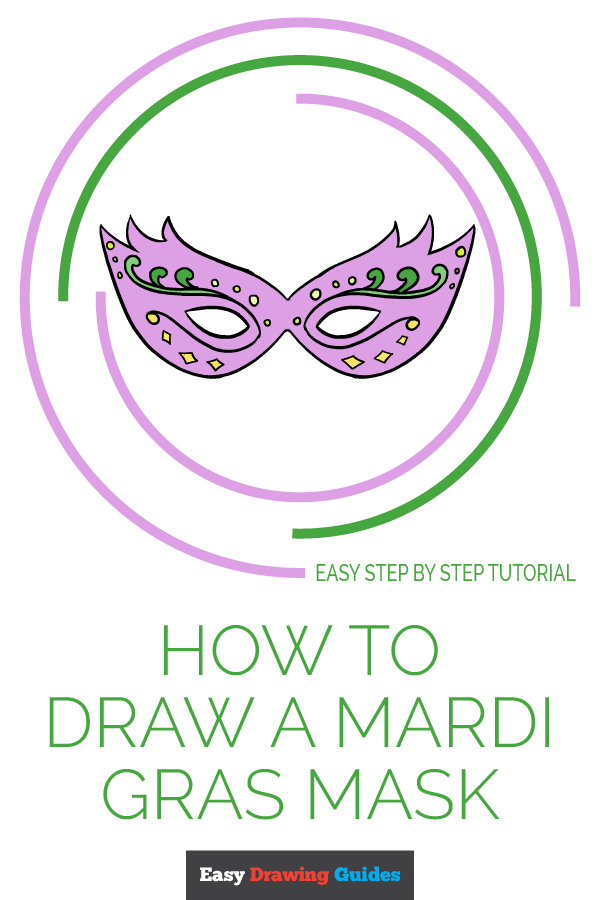 How to Draw Mardi Gras Mask | Share to Pinterest