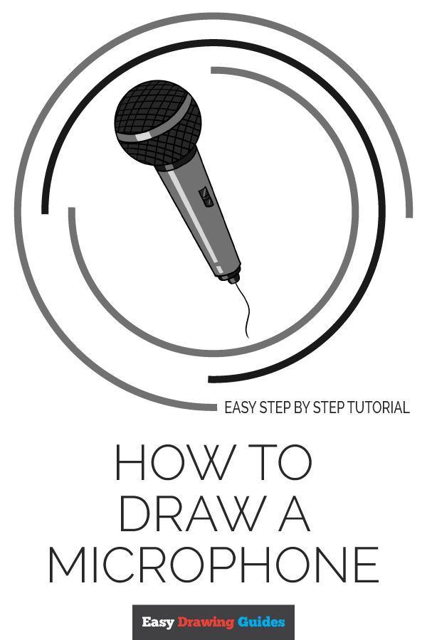 How to Draw Microphone | Share to Pinterest
