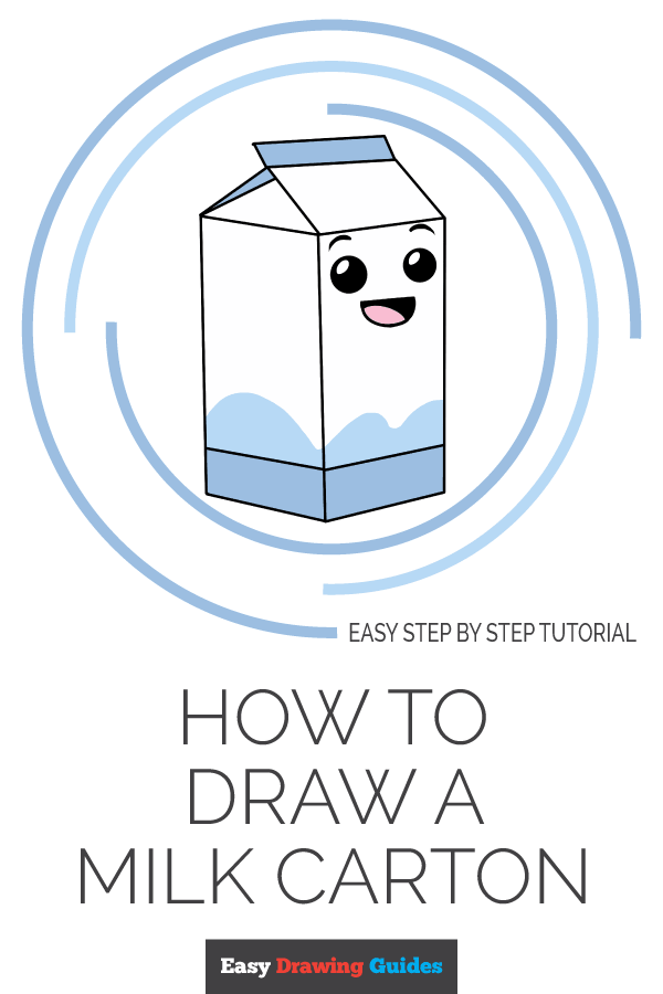 How to Draw Milk Carton | Share to Pinterest