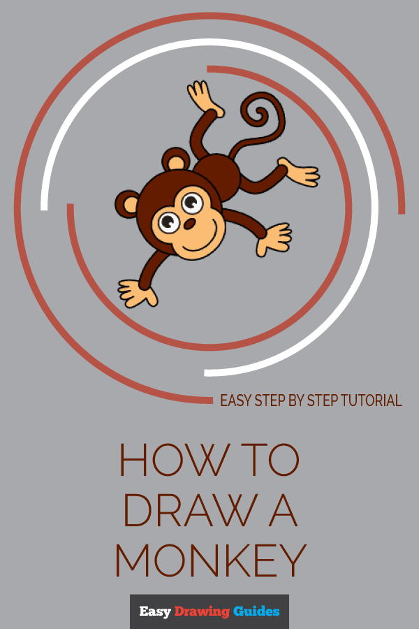 How to Draw Cartoon Monkey | Share to Pinterest