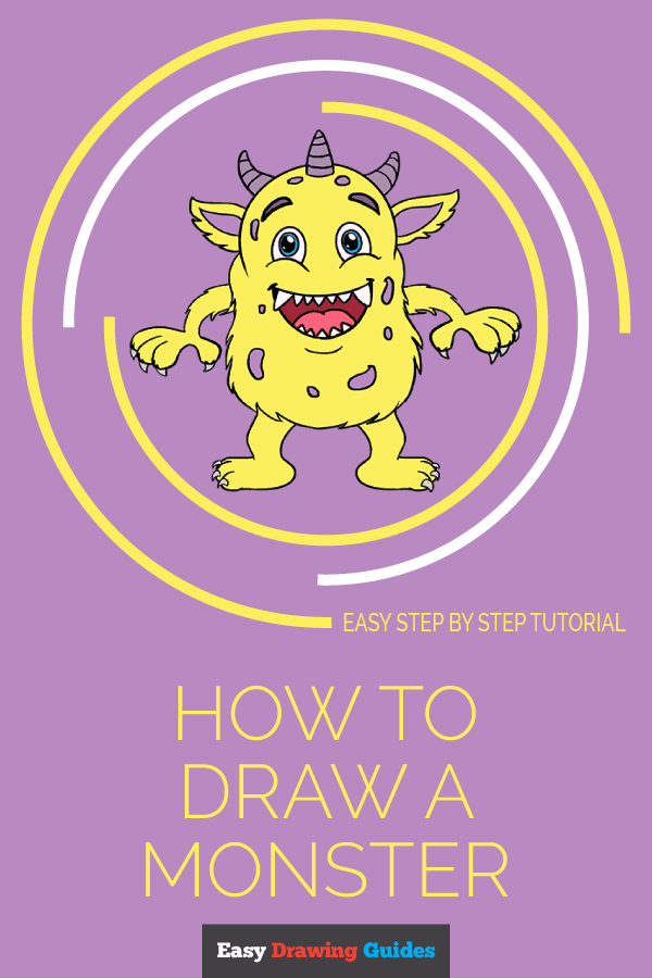 How To Draw A Cartoon Monster Easy Drawing Guides