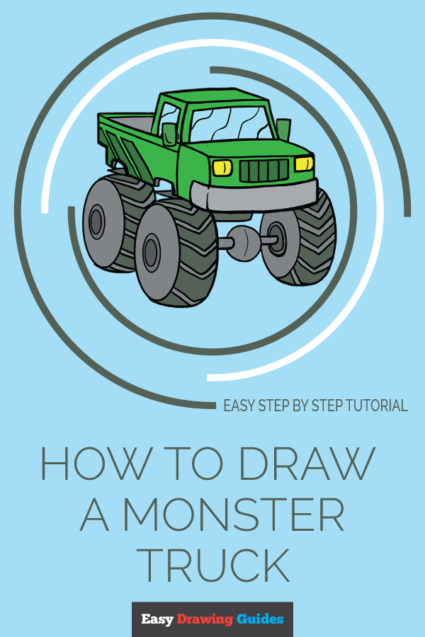 How to Draw Monster Truck | Share to Pinterest
