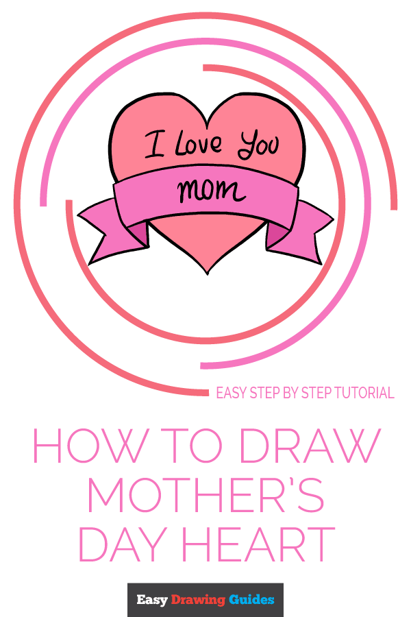 How to Draw Mother's Day Heart | Share to Pinterest