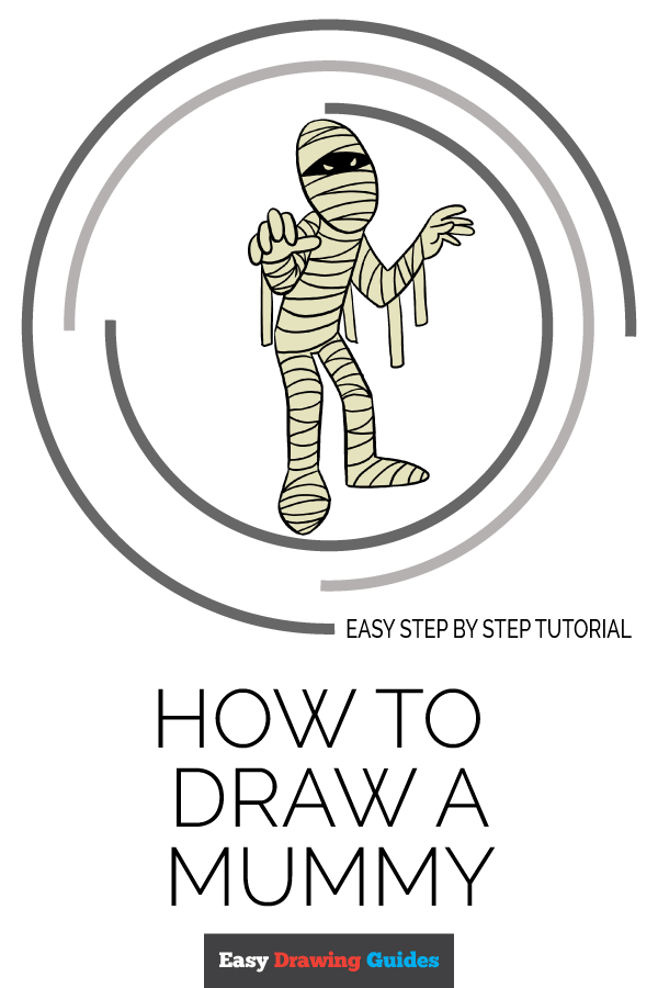 How to Draw Mummy | Share to Pinterest