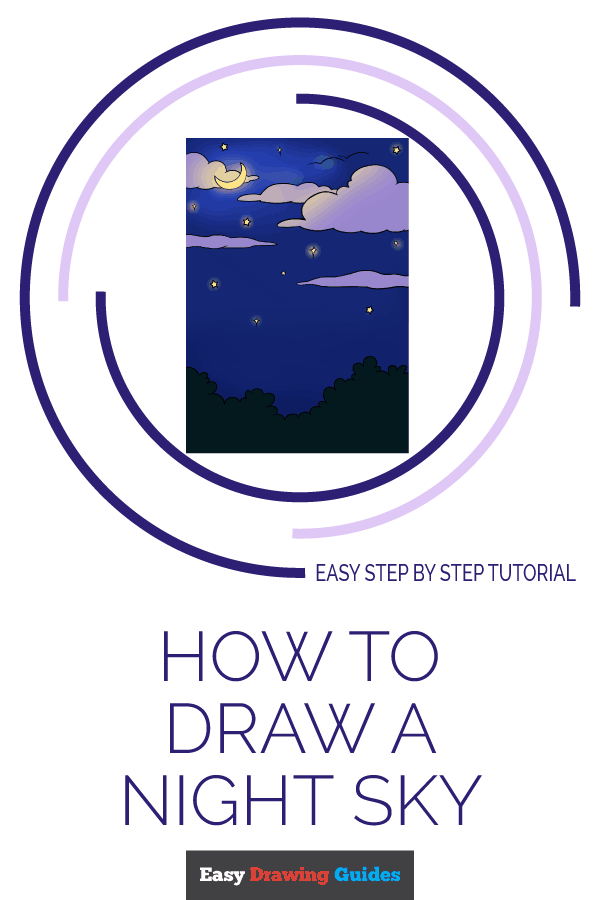 How to draw a starry night sky