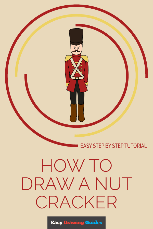 How to Draw Nut Cracker | Share to Pinterest