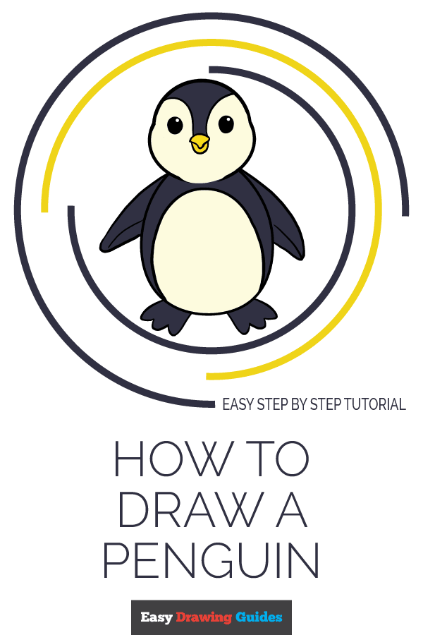 How to Draw Penguin | Share to Pinterest