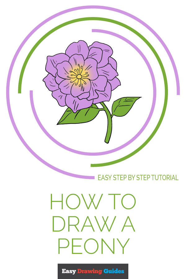 How to Draw Peony | Share to Pinterest