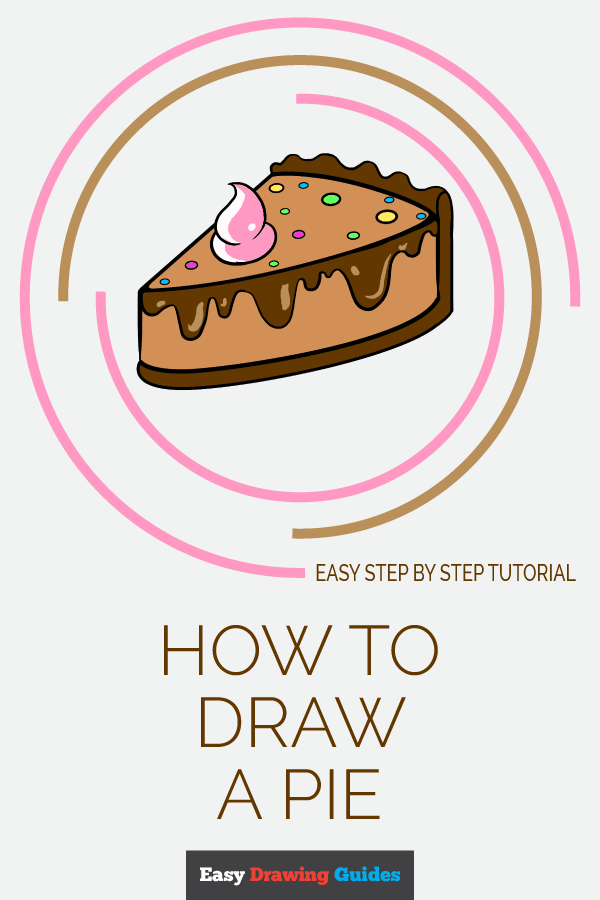 How to Draw a Pie | Share to Pinterest