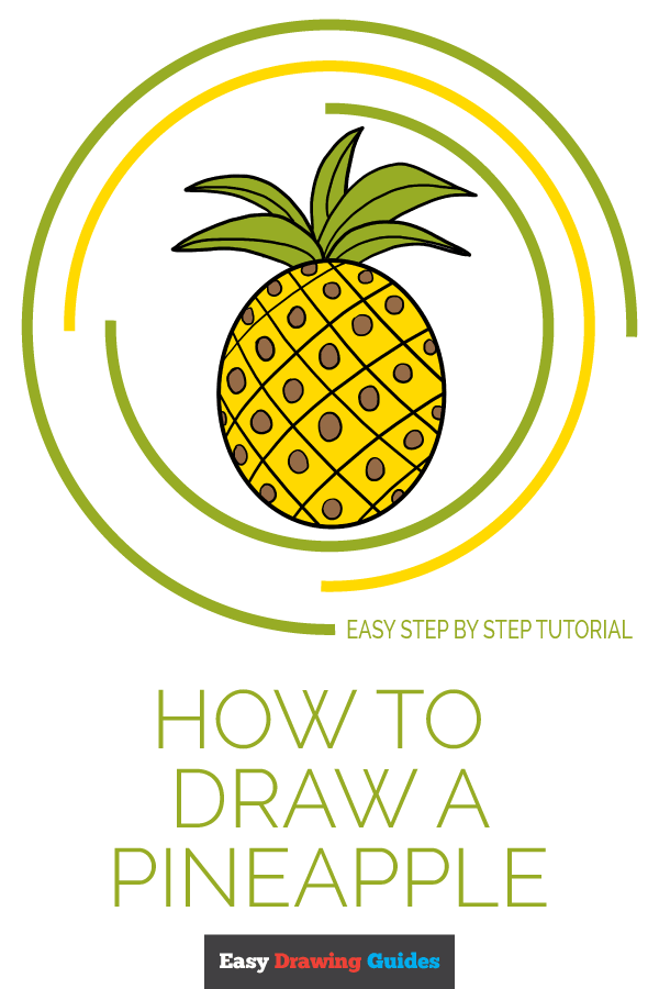 How to Draw Pineapple | Share to Pinterest