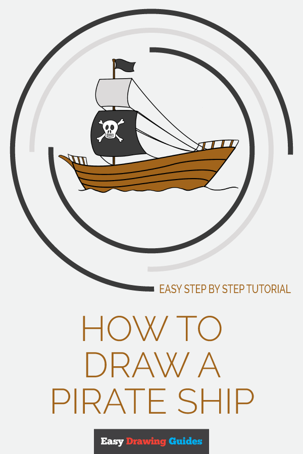 How to Draw Pirate Ship | Share to Pinterest
