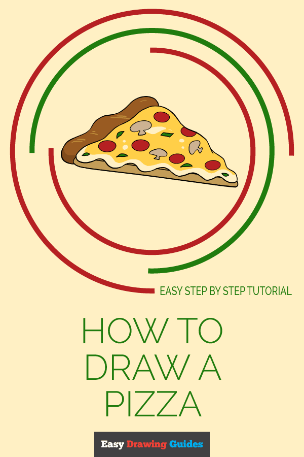 How to Draw a Pizza | Share to Pinterest