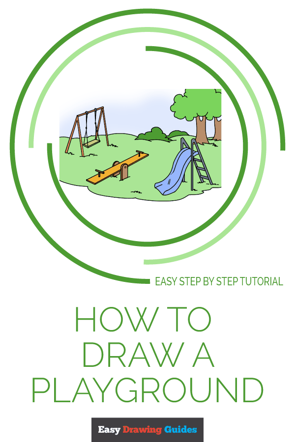 How to Draw Playground | Share to Pinterest