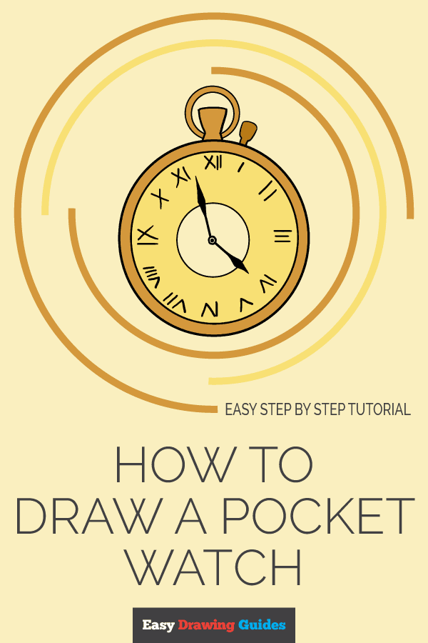 How to Draw Pocket Watch | Share to Pinterest