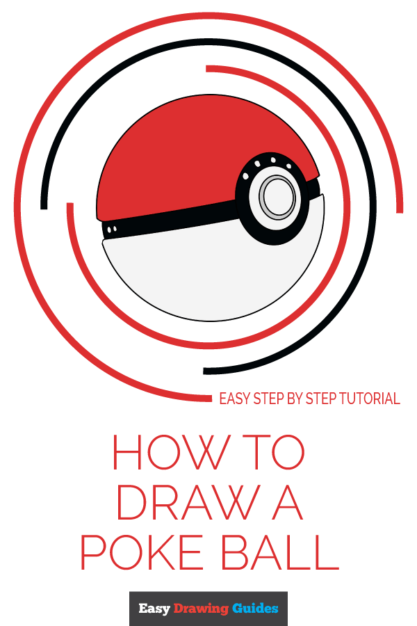 How to Draw Poke Ball | Share to Pinterest