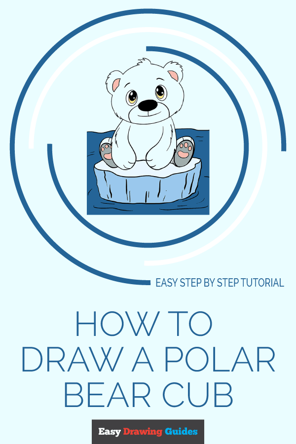 How to Draw Polar Bear Cub | Share to Pinterest