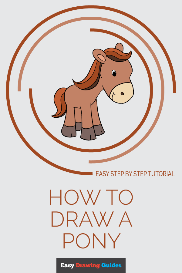 How to Draw Pony | Share to Pinterest