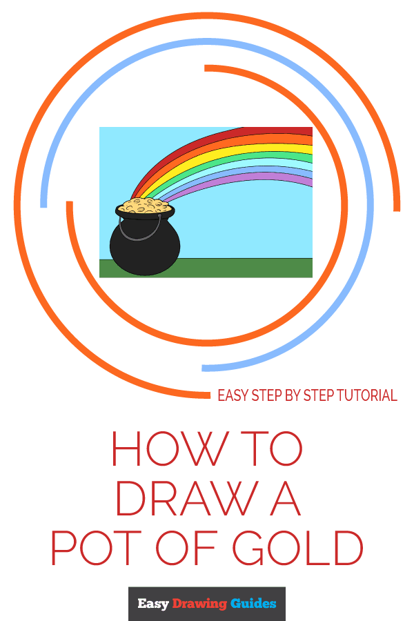 How to Draw Pot of Gold | Share to Pinterest