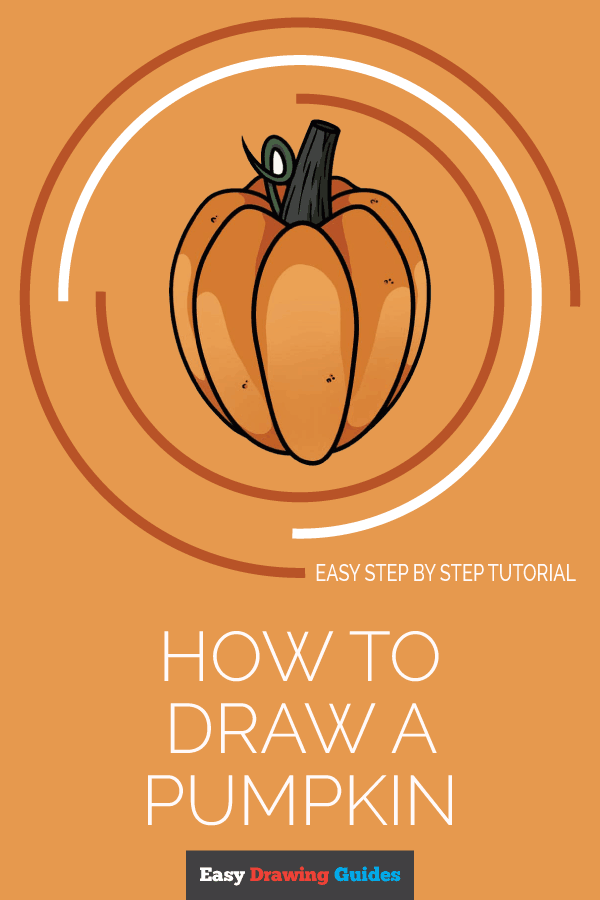 How to Draw Pumpkin | Share to Pinterest