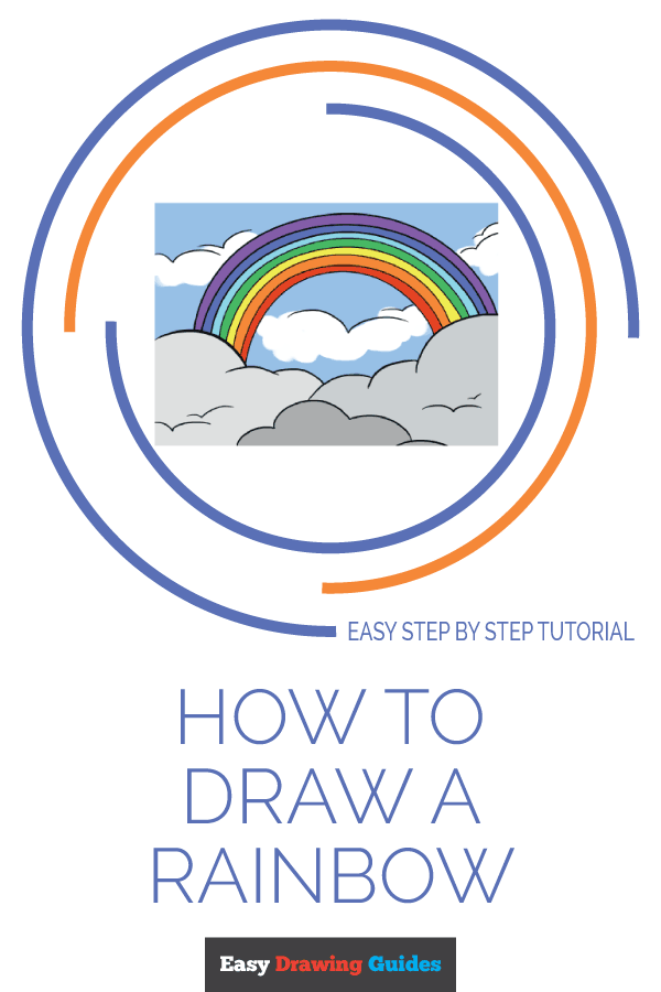 How to Draw Rainbow | Share to Pinterest