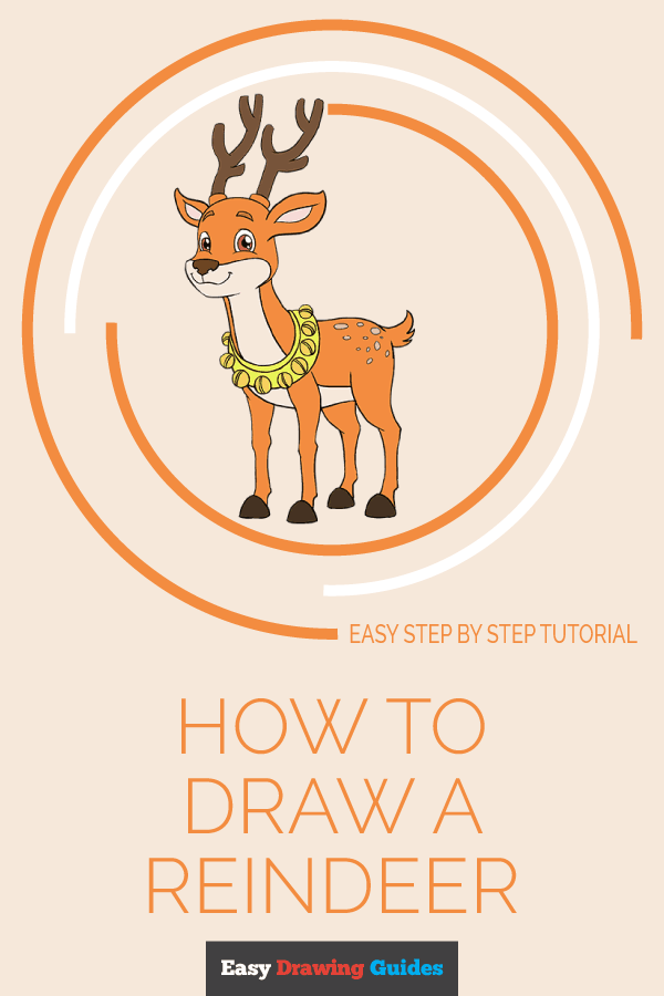 How to Draw Cartoon Reindeer | Share to Pinterest