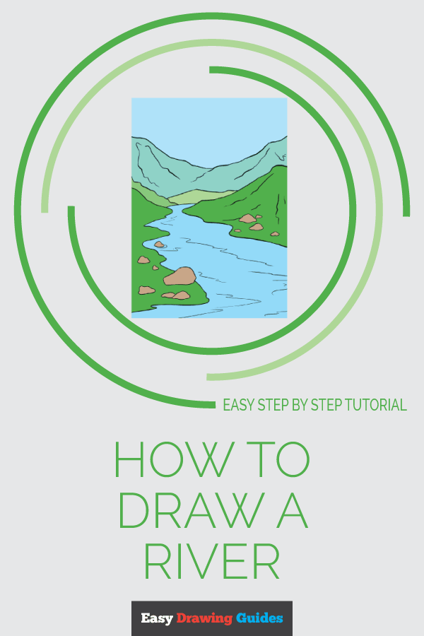 How to Draw River | Share to Pinterest
