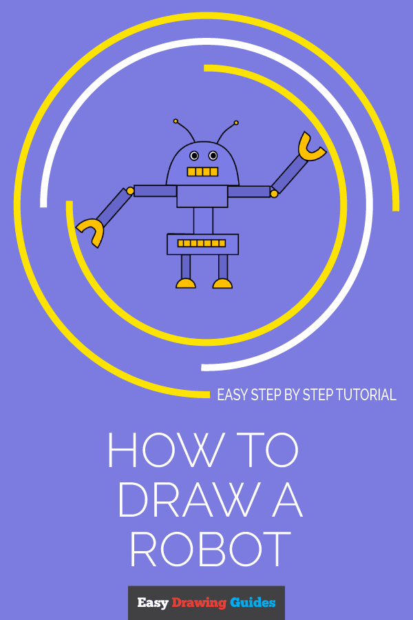 How to Draw a Robot | Share to Pinterest