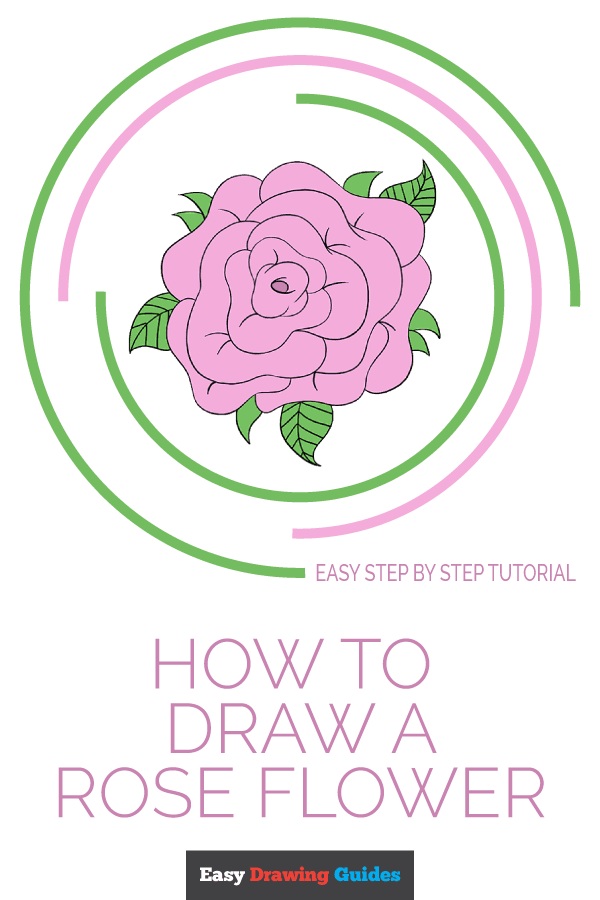 How to Draw Rose Flower | Share to Pinterest