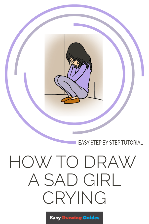 How to Draw Sad Girl Crying | Share to Pinterest