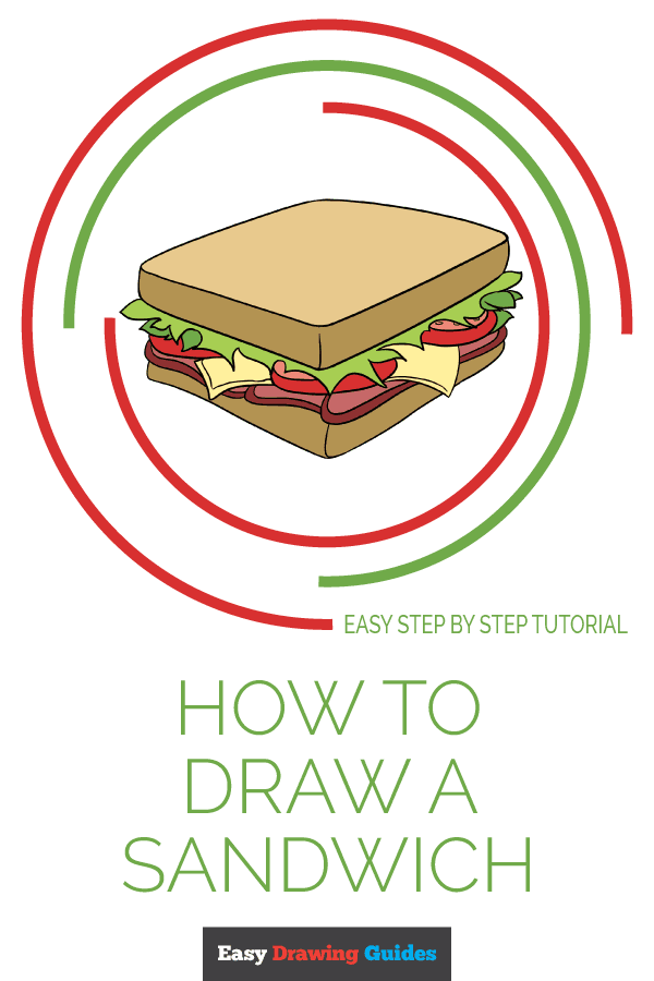 How to Draw Sandwich | Share to Pinterest
