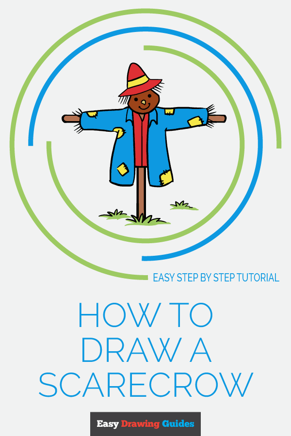 How to Draw Scarecrow | Share to Pinterest