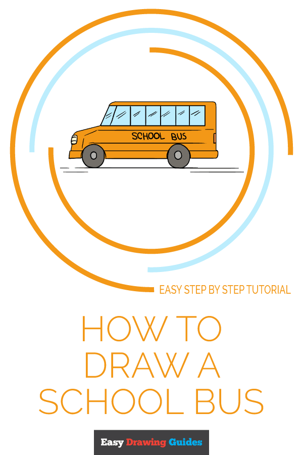 How to Draw School Bus | Share to Pinterest