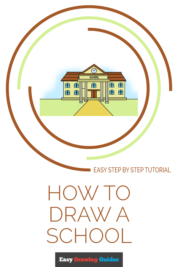How to Draw School | Share to Pinterest