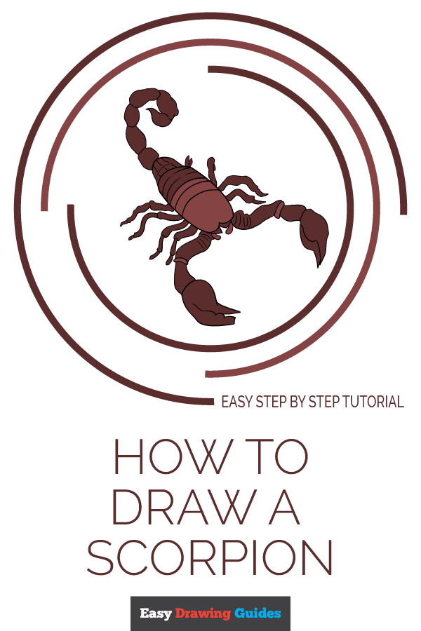 How to Draw Scorpion | Share to Pinterest