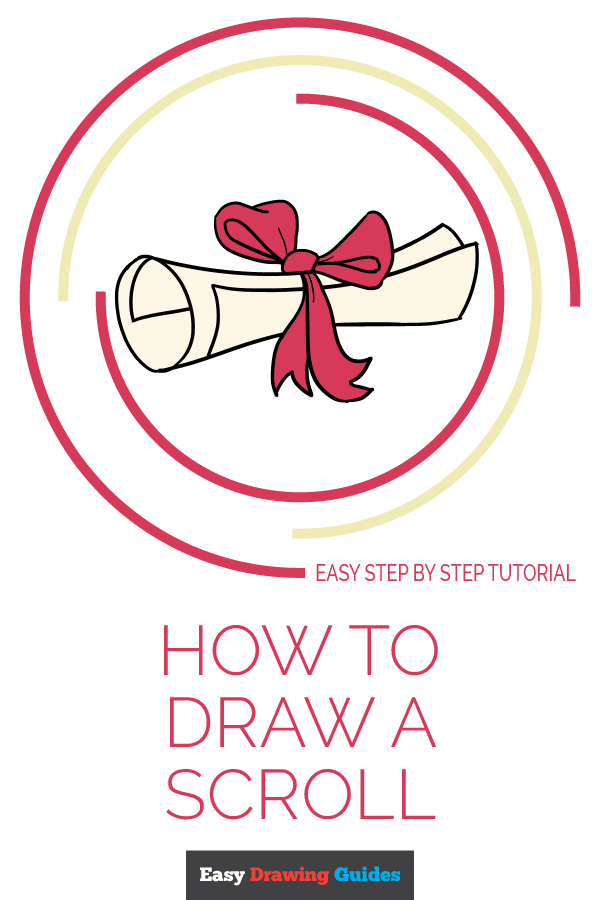 How to Draw Scroll | Share to Pinterest